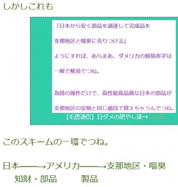 ten日本───→アメリカ───→支那地区・嘔臭