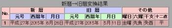 新暦→旧暦変換結果