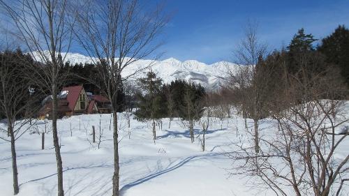コースから見える白馬三山1