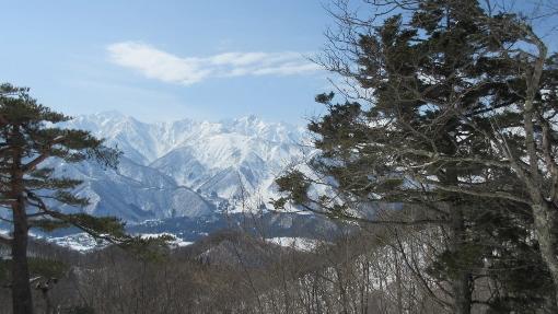 東山峰方から見る五竜,鹿島