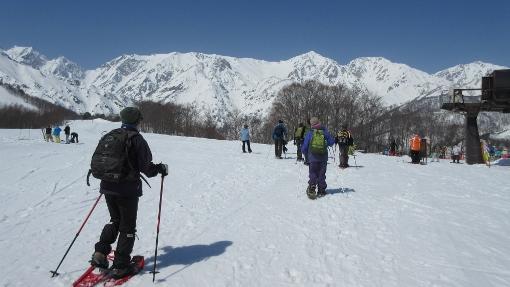 3月21日八方北尾根スノーシュー (1)