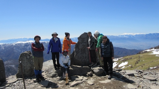 王ヶ頭頂上2034m
