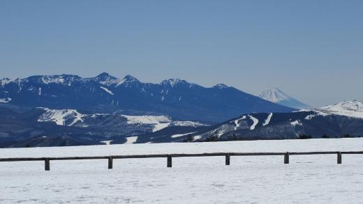 八ヶ岳と富士山がはっきりと