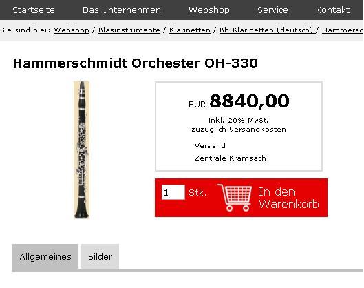 Hammerschmidt Orchester OH-330 price