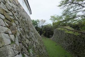 彦根城/西の丸の堀切