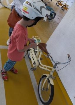 補助なし自転車の練習