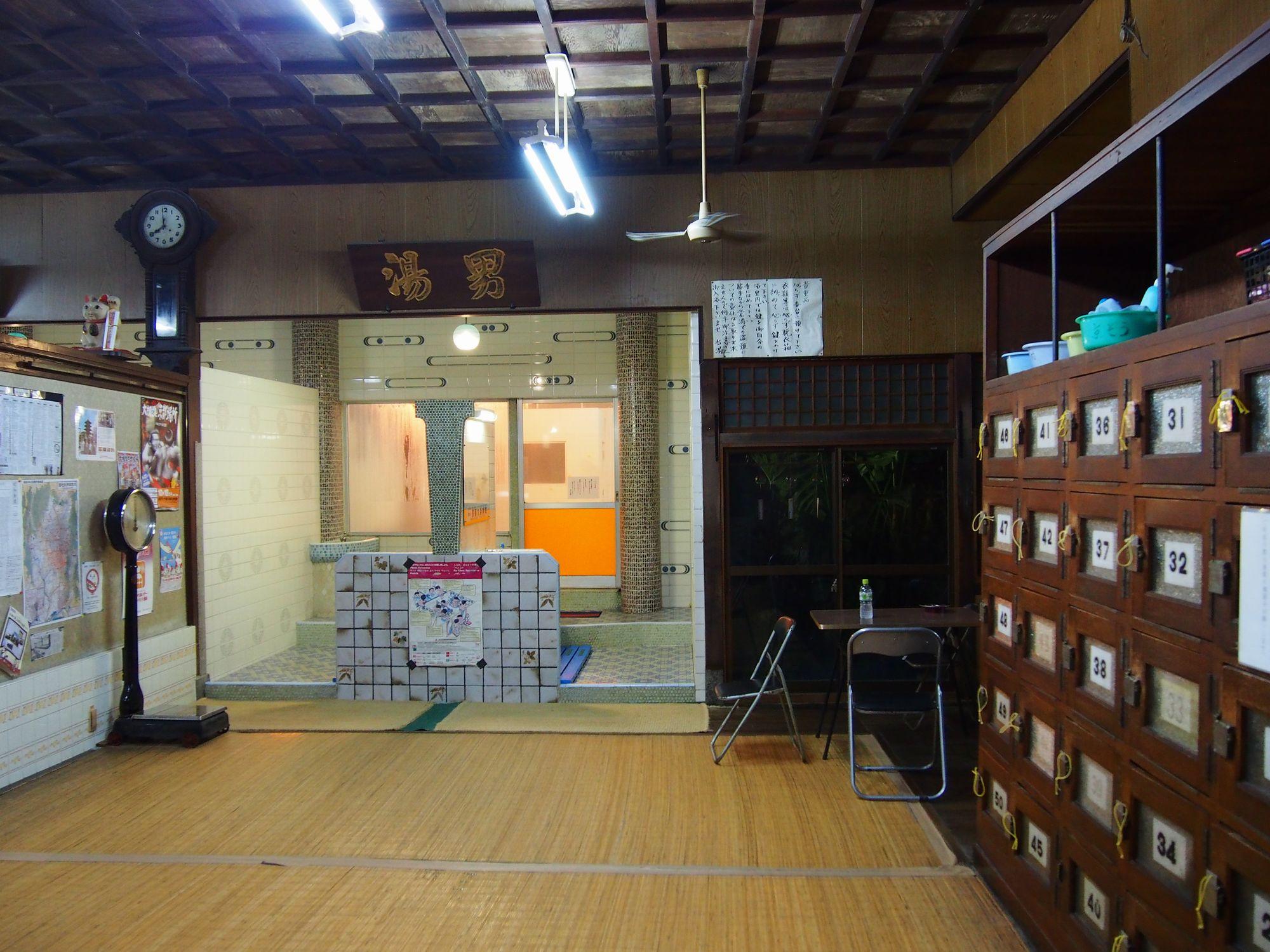 京都市南区 日の出湯 脱衣所
