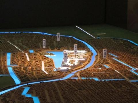 清州城下模型