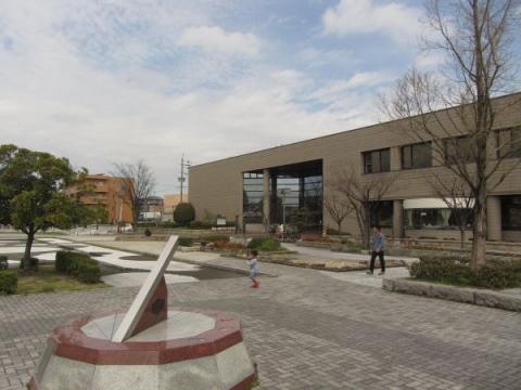 新地公園と知立市図書館・歴史民俗資料館