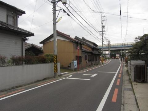 旧東海道・見返弘法大師道の分岐点