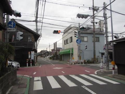 旧東海道 牛田町・来迎寺町境