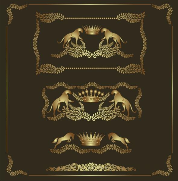 金色の紋章パターン European Signet pattern