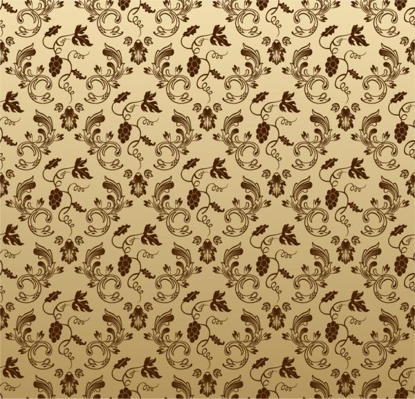 シームレス パターンの壁紙 Seamless Vintage wallpaper