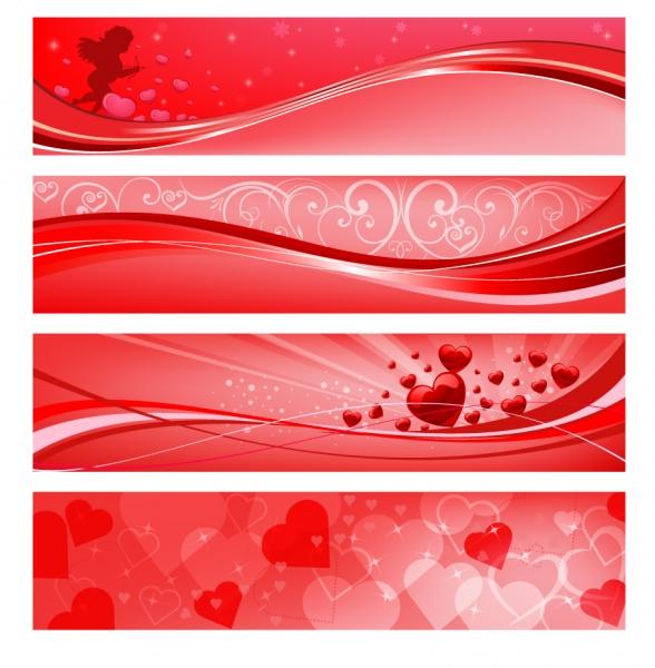 バレンタインデーのバナー valentines day placard banner