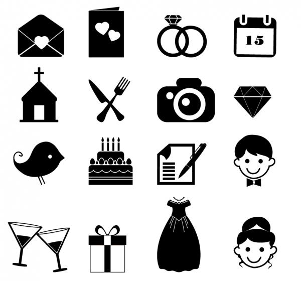 結婚のシルエット アイコン married symbol computer icon