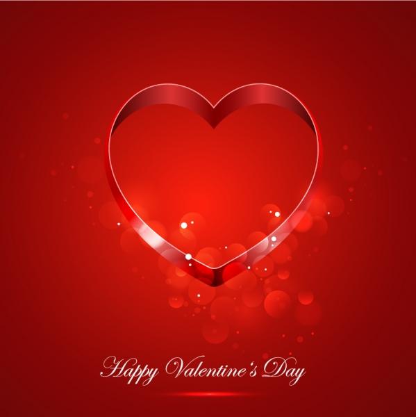 ハート デザインのバレンタインデー背景 Heart Card for Valentine Day