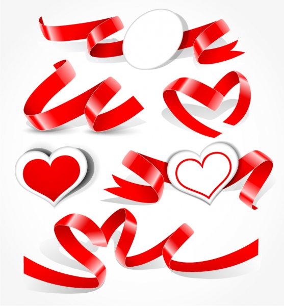 ロマンチックなハート型のクリップアート romantic heartshaped vector3