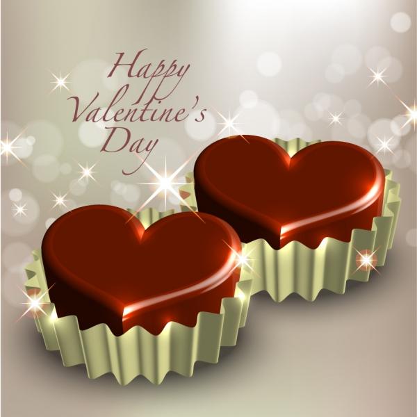 ロマンチックなハート型のクリップアート romantic heartshaped vector6