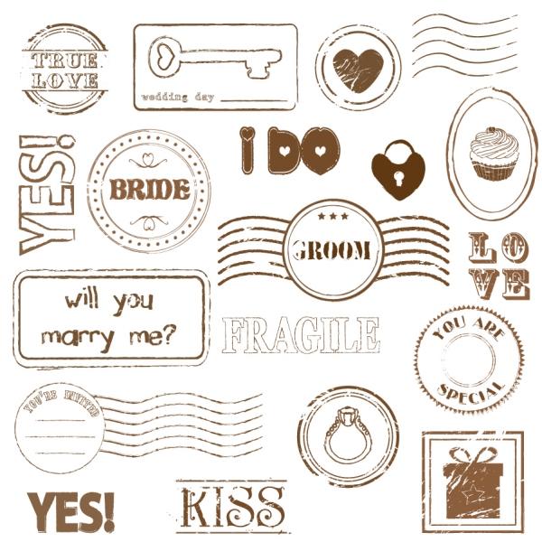 ロマンチックな消印スタンプ romantic inkpad stamp