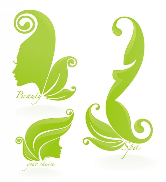 擬人化した植物柄のシルエット beautiful silhouette pattern