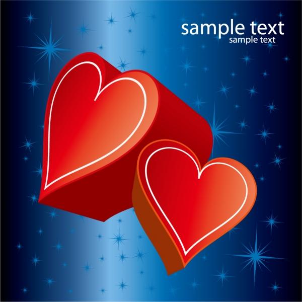 愛を届けるハートのギフト romantic gift of love vector1