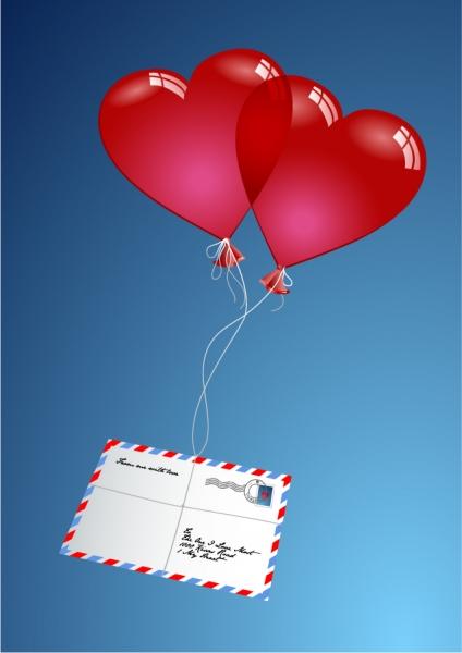 愛を届けるハートのギフト romantic gift of love vector3