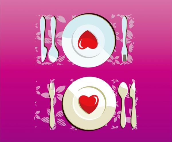 愛らしいハートのディナー Heart Lovely Dinner