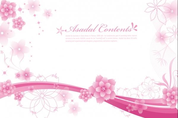 癒やし系の花の背景 Elegant Floral Background