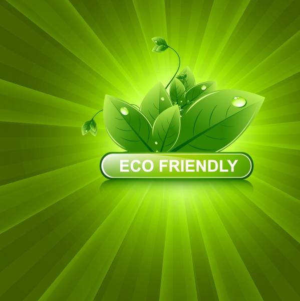 エコをイメージした緑の葉の背景 Green leaf background vector