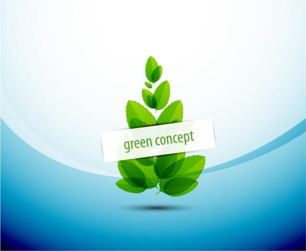 緑の葉をコンセプトにした背景 abstract green leaf background