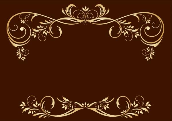 ゴージャスな金縁の飾り罫 gorgeous fine golden lace vector2
