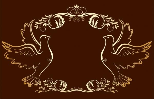 ゴージャスな金縁の飾り罫 gorgeous fine golden lace vector3