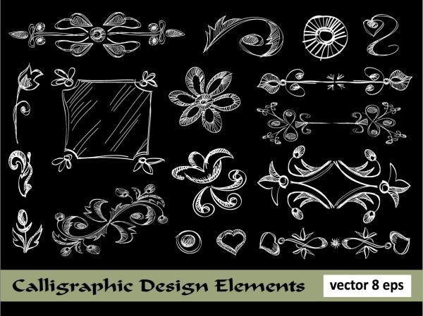 手書き風の飾り罫 european lace pattern line draft