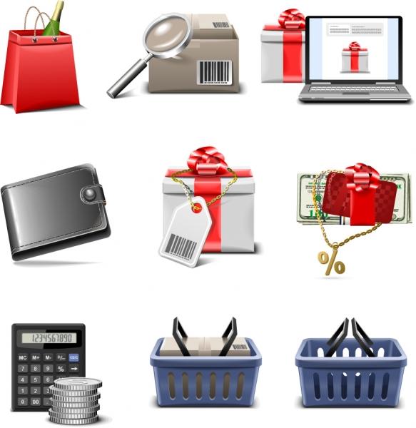 ネット ショッピング アイコン shopping icon vector series