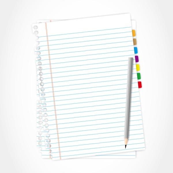 ノートと鉛筆 blank note paper