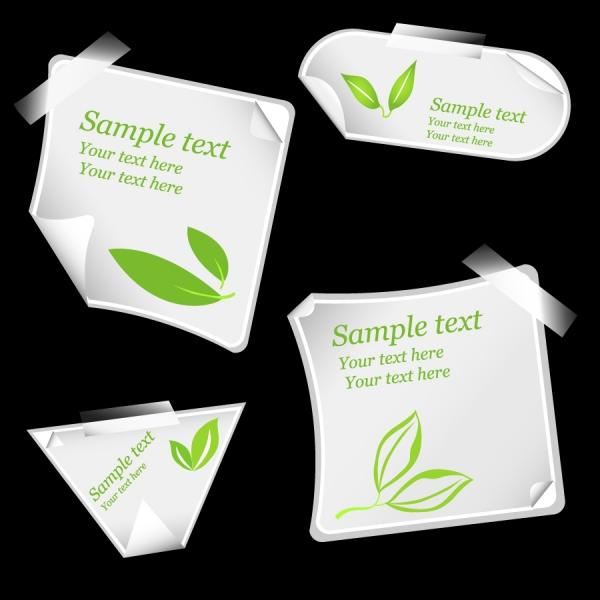 緑をイメージしたテープ貼りのステッカー roll angle stickers leaves