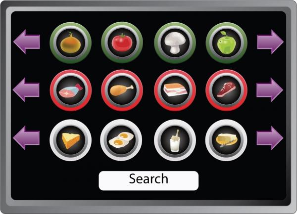 食べ物インターフェイス アイコン Touch Screen icons