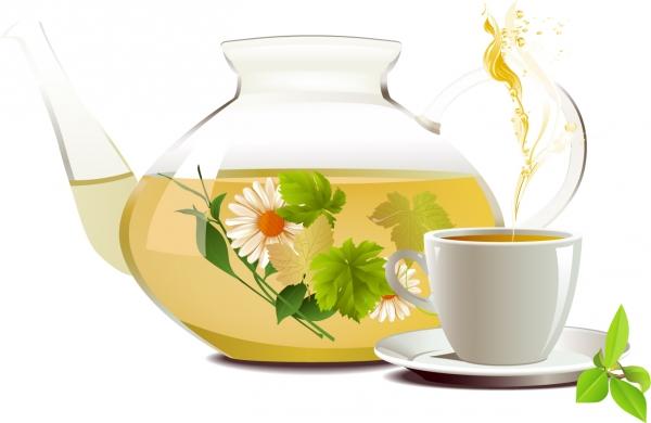 菊花茶のティーポット Chrysanthemum tea