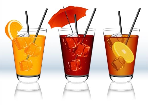 ソフトドリンクのクリップアート Beverage clip art