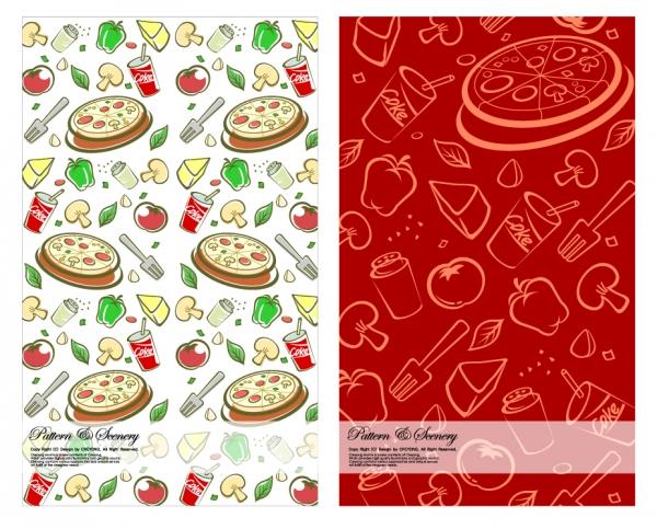 ファストフード ピザの背景 fast food pizza background