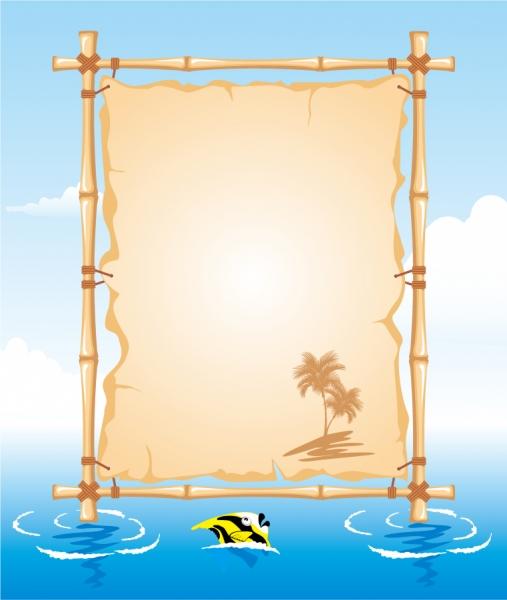 夏をテーマにしたお知らせボード summer beach public board5