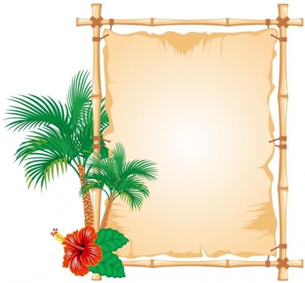 夏をテーマにしたお知らせボード summer beach public board2