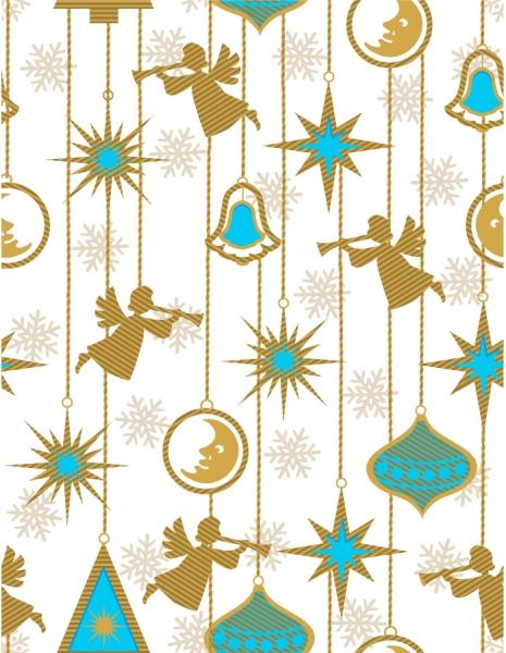 天使のシルエットの吊るし飾り angels silhouette curtains