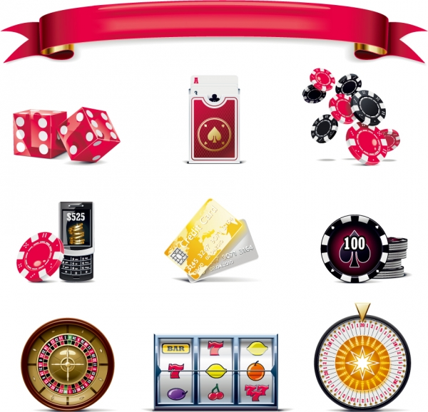 カードゲームとカジノのアイコン Gaming theme icon2