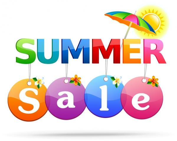 サマーセールの修飾ロゴ Summer Sale