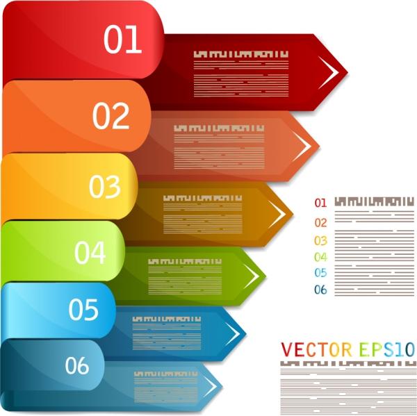 インフォグラフィックス用のカラフルなデザイン プレート Infographic Free vector