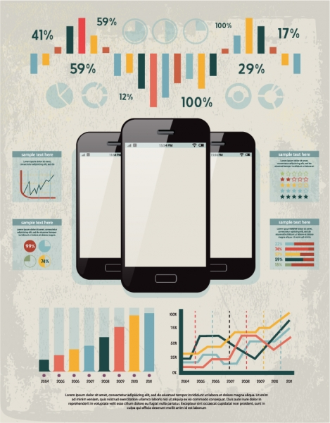 モバイル データ リポート用表示素材 Data report