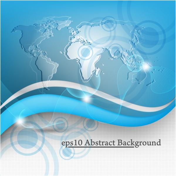 世界に拡がるテクノロジーの背景 Global Technology vector background
