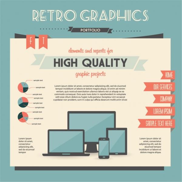 レスポンシブデザインのインフォグラフィックス Data report figure