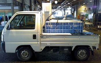 """""""軽トラックの活魚運搬車"""